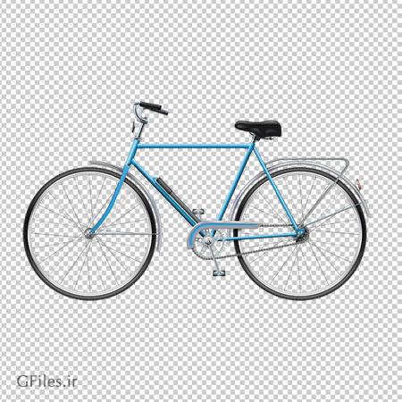 تصویر دوچرخه ترک دار قدیمی با فرمت پی ان جی و دوربری شده