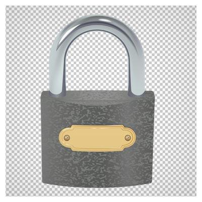 دانلود قفل یو شکل بدون پس زمینه با فرمت پی ان جی
