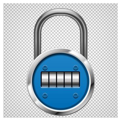 دانلود فایل دوربری شده و فاقد بکگرند قفل دایره ای شکل رمز دار