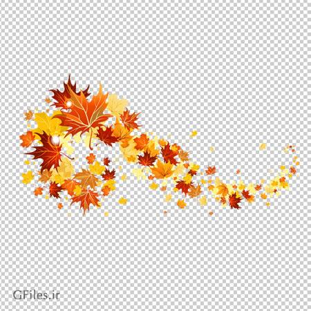 کلیپ آرت برگ های پاییزی بدون پس زمینه با فرمت png