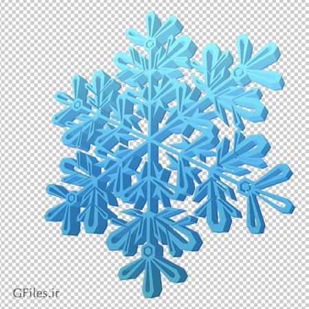 تصویر بزرگ شده ریزه برف با فرمت پی ان جی به صورت ترانسپرنت