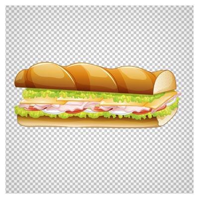 تصویر ساندویچ کالباس کارتونی ، دانلود بصورت فایل پی ان جی و بدون پس زمینه