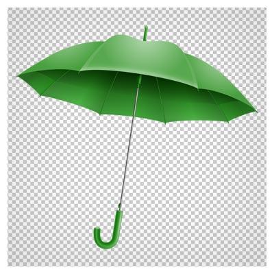 کلیپ آرت چتر سبز باز شده بصورت فایل پی ان جی و ترانسپرنت