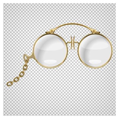 تصویر عینک طبی زنجیردار قدیمی بصورت فایل پی ان جی