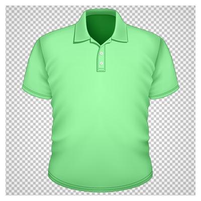 کلیپ آرت تی شرت سبز مردانه بصورت فایل دوربری شده و پی ان جی
