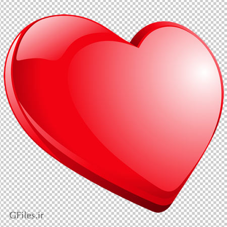 تصویر کلیپ آرت قلب قرمز کم ضخامت بدون پس زمینه