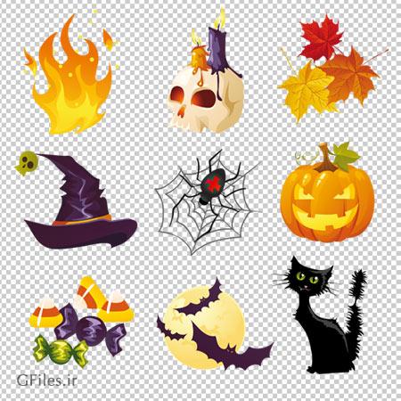 مجموع عکس های هالووینی با فرمت پی ان جی و بدون پس زمینه
