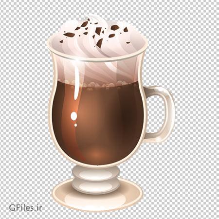 دانلود تصویر دوربری شده فنجان قهوه اسپرسو با فرمت png