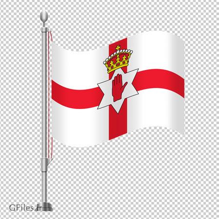 تصویر پرچم ایستاده رومیزی ایرلند شمالی با فرمت پی ان جی و فاقد بکگرند