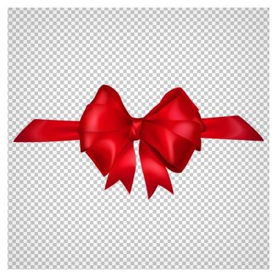 تصویر پاپیون ساده روبانی قرمز با فرمت پی ان جی بدون پس زمینه