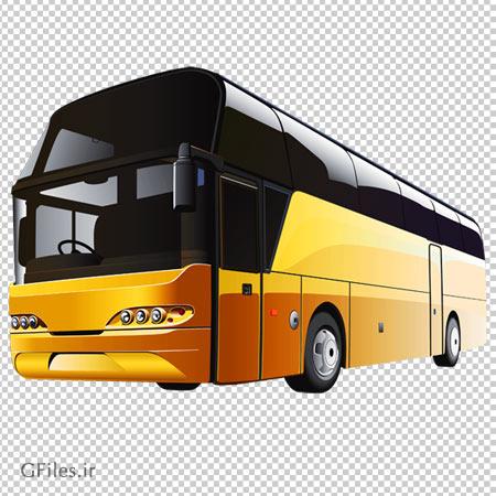 دانلود تصویر اتوبوس برون شهری نارنجی بدون پس زمینه