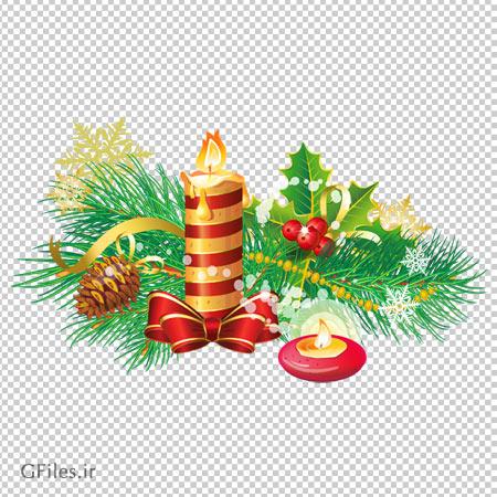 تصویر کلیپ آرت بکگرند کریسمس بدون پس زمینه با فرمت پی ان جی