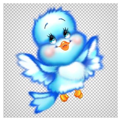 کلیپ آرت پرنده کوچک آبی بدون پس زمینه با فرمت پی ان جی