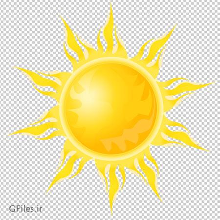 کلیپ آرت خورشید شعله ای بصورت فایل پی ان جی و فاقد پس زمینه