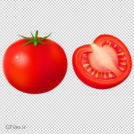 کلیپ آرت گوجه قرمز بصورت فایل پی ان جی و فاقد پس زمینه
