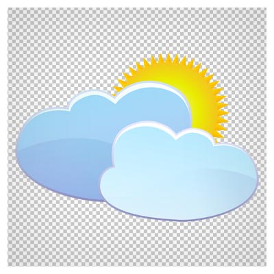 تصویر خورشید پشت ابر بصورت فایل بدون بکگرند