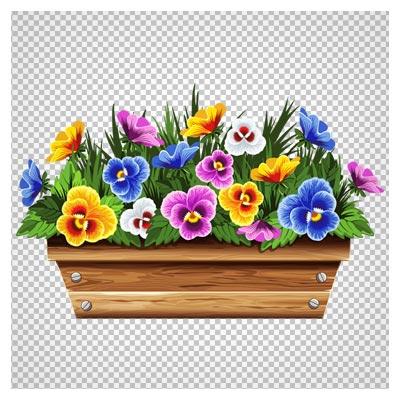 تصویر گلدان گلهای بنفشه ، دانلود بصورت فایل پی ان جی و دوربری شده