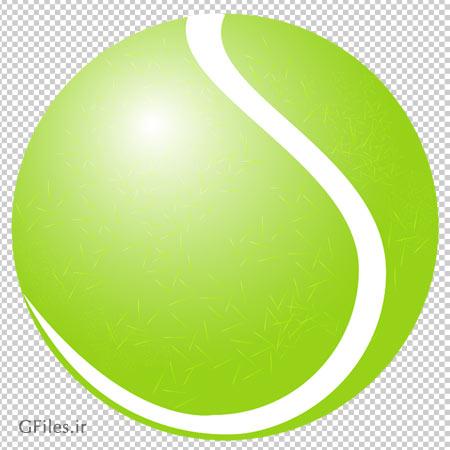 توپ تنیس سبز ، دانلود بصورت فایل با پسوند png و دوربری شده