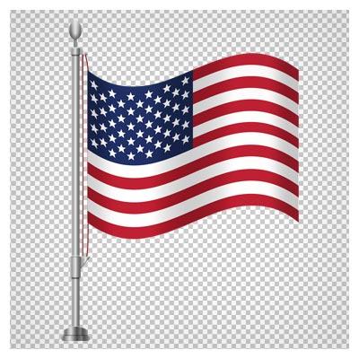 دانلود تصویر دوربری شده پرچم رومیزی آمریکا با فرمت png