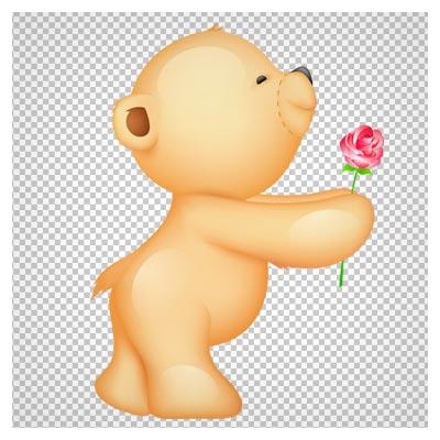 کلیپ آرت و تصویر کارتونی بچه خرس با فرمت png و بدون پس زمینه