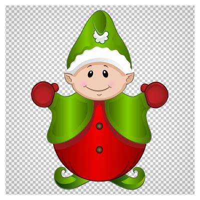دریافت فایل دوربری شده کلیپ آرت الف ( elf ) کریسمس با فرمت پی ان جی