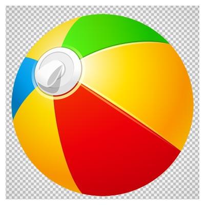 کلیپ آرت توپ بادی چند رنگ با فرمت png و بدون پس زمینه