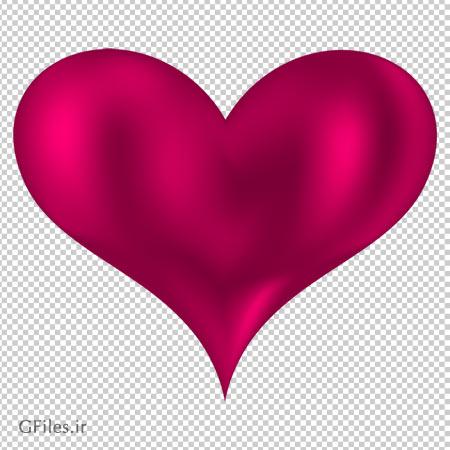 تصویر کلیپ آرت قلب صورتی زیبا با فرمت پی ان جی و فاقد بکگرند