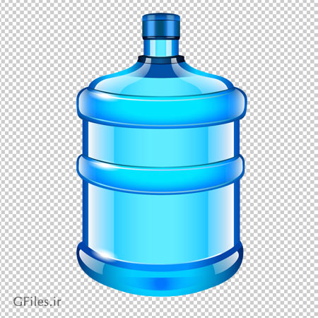 کلیپ آرت بطری بزرگ پلاستیکی آب معدنی با فرمت پی ان جی و بدون پس زمینه