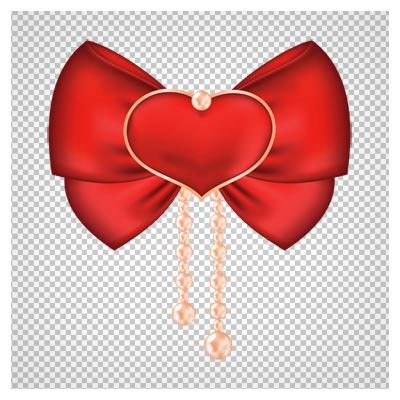 دانلود فایل png پاپیون قرمز قلبی مرواریدی به صورت ترانسپرنت