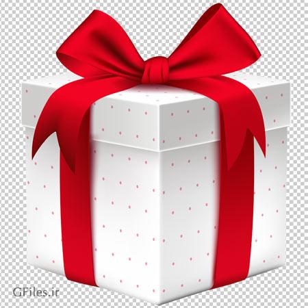 تصویر دوربری شده باکس سفید با خال های قرمز با فرمت پی ان جی