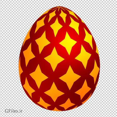 دانلود کلیپ آرت تخم مرغ با طرح رنگی ( زرد و قرمز ) با فرمت پی ان جی