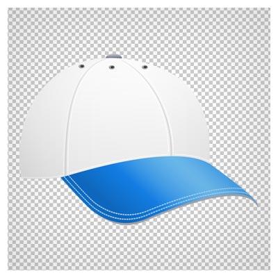 کلیپ آرت کلاه اسپرت سفید با نقاب آبی به صورت ترانسپرنت