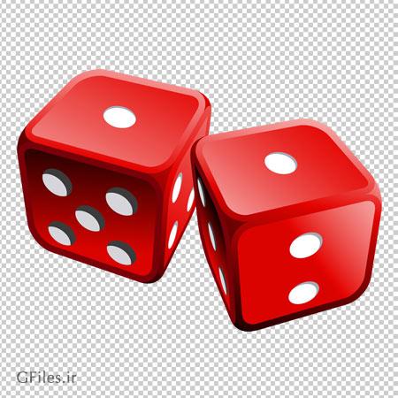 کلیپ آرت تاس های قرمز با فرمت پی ان جی و فاقد بکگرند