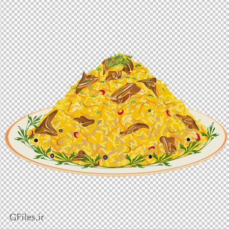 دانلود فایل پی ان جی بشقاب غذا دوربری شده