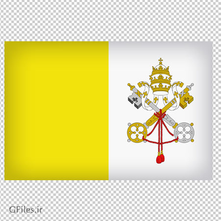 تصویر پرچم شهر واتیکان با فرمت پی ان جی