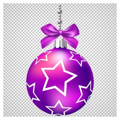 کلیپ آرت توپ کریسمس بنفش با فرمت پی ان جی