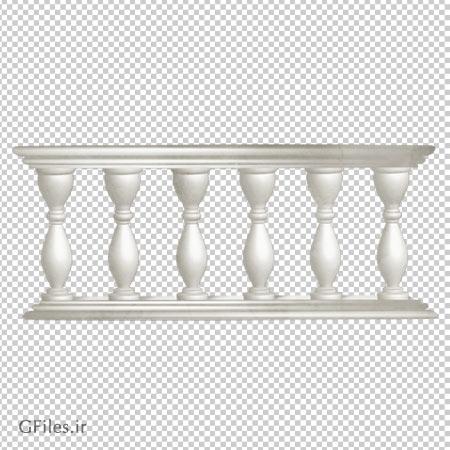 عکس دوربری شده و بدون پس زمینه نرده های چوبی سفید با فرمت پی ان جی