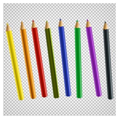 دانلود کلیپ آرت هشت مداد رنگی با فرمت پی انجی و فاقد بکگرند