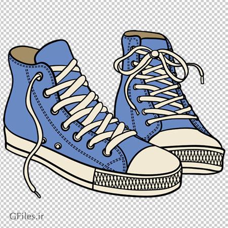 کلیپ آرت کفش های اسپرت آبی نفتی بدون پس زمینه با فرمت png