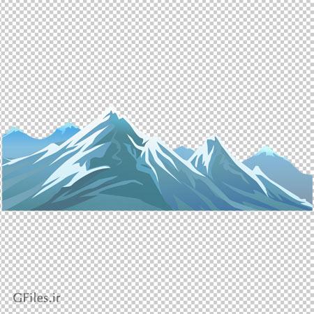 کلیپ آرت تصویر کوه های پوشیده از برف با فرمت پی ان جی و بدون پس زمینه