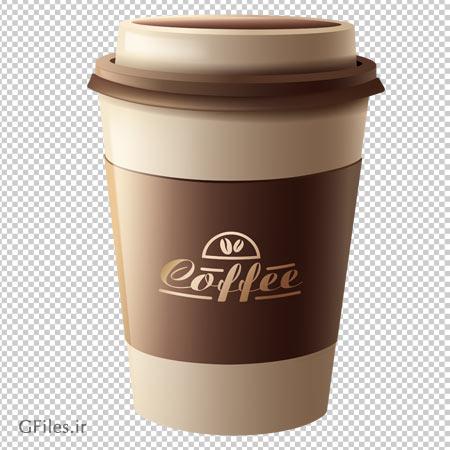 کلیپ آرت لیوان یکبار مصرف قهوه با فرمت پی ان جی و دوربری شده