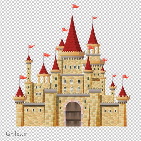 تصویر کلیپ آرت قصر سنگی بزرگ دوربری شده و بدون پس زمینه
