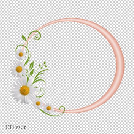 دانلود فریم عکس با طرح گلهای سفید با فرمت png