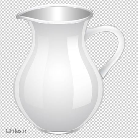 دانلود کلیپ آرت پارچ شیشه ای ساده با فرمت png و فاقد بکگرند
