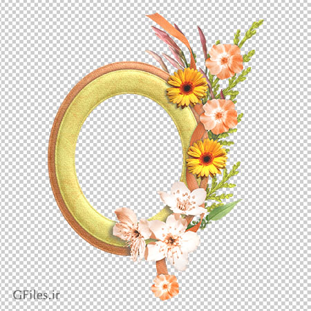 تصویر دوربری شده قاب عکس با طرح گل و فرمت png