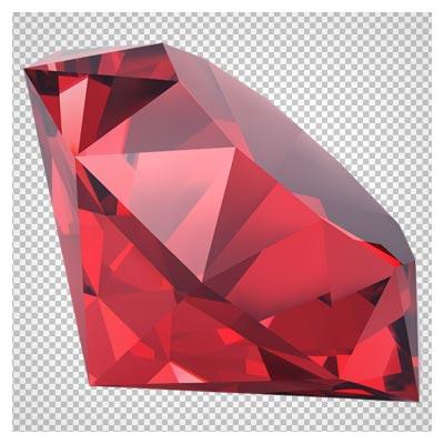 تصویر الماس قرمز بزرگ به صورت فایل ترانسپرنت