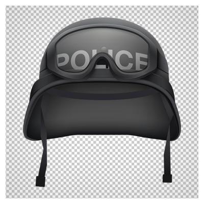 تصویر کلاه و عینک پلیس ویژه به صورت دوربری شده