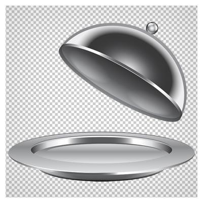 کلیپ آرت ظرف فلزی درب دار غذا به صورت فایل ترانسپرنت