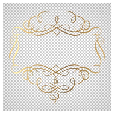 عکس برچسب با طراحی طلایی و فرمت پی ان جی