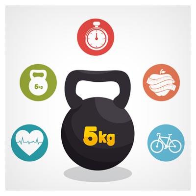دانلود تصویر با کیفیت وکتوری مجموعه نمادهای ورزش و سلامتی